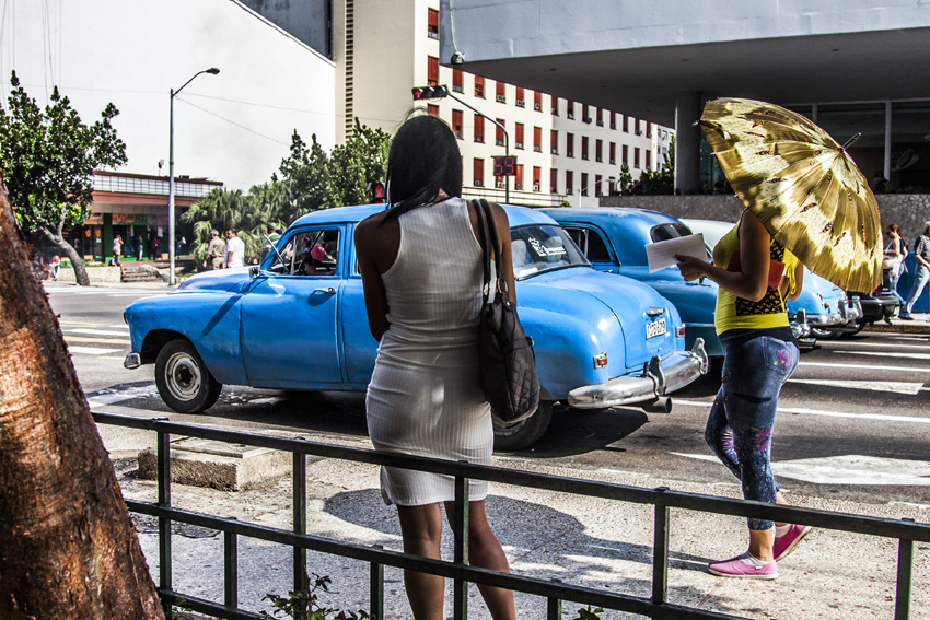 Sex workers in Havana, Cuba, on 1st January 2016. The night is still their best ally. They are seen in nightclubs, streets and other places, although they almost always end their journey in private houses where foreign tourists who arrive on the Caribbean island are staying. The jineteras, as it is usually called in Cuba to the young women who sell any type of sexual favor to the highest bidder, have not stopped exercising prostitution even in the middle of greater police and social surveillance to avoid it. (Photo by Alvaro Fuente/NurPhoto)